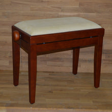 Load image into Gallery viewer, Cherry matt beige velvet stool