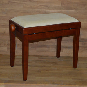 Cherry matt beige velvet stool