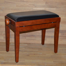 Load image into Gallery viewer, Cherry matt black leather stool