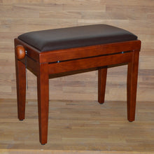 Load image into Gallery viewer, Cherry matt brown leather stool
