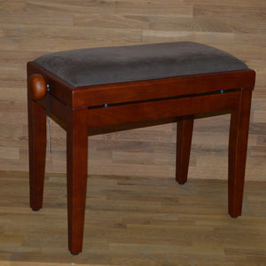 Cherry matt brown velvet stool
