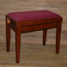 Load image into Gallery viewer, Cherry matt red wine velvet stool
