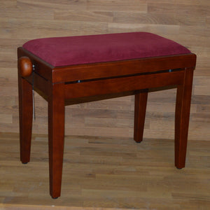 Cherry matt red wine velvet stool