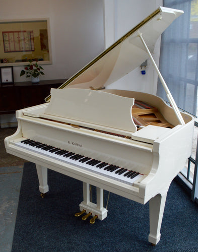 Kawai KG1E baby grand piano in white high gloss finish