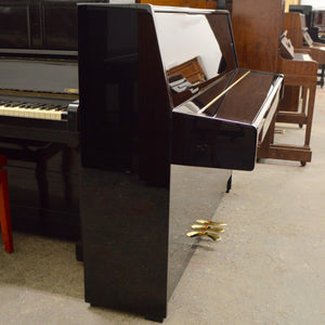 Kawai K-15E Upright Piano in black high gloss lateral