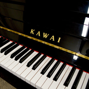 Kawai K-15E Upright Piano in black high gloss Keys