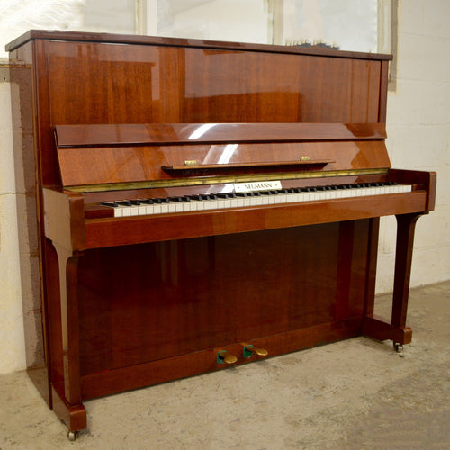 Neumann European Made upright piano in mahogany