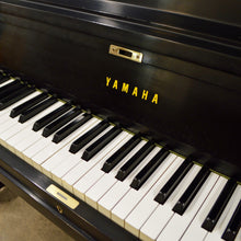Load image into Gallery viewer, Yamaha P116 Upright Piano in black satin finish keys