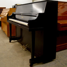 Load image into Gallery viewer, Yamaha P116 Upright Piano in black satin finish lateral