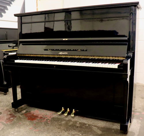 Apollo by Toyo model 350 Japanese made Upright Piano in Black High gloss