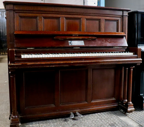 Blüthner Model B Upright in rosewood arts and crafts era case