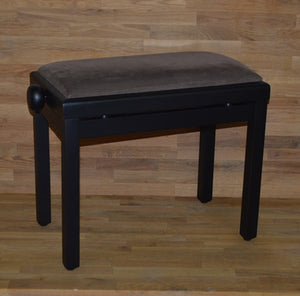 Matt Rosewood brown velvet piano stool