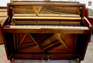 Challen Art Deco Upright Piano in mahogany
