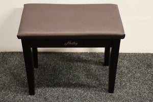 Dark Mahogany Piano Stool With Storage