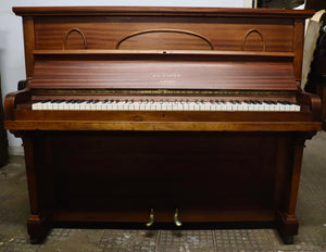 W.H. Barnes Upright Piano in Mahogany Cabinet