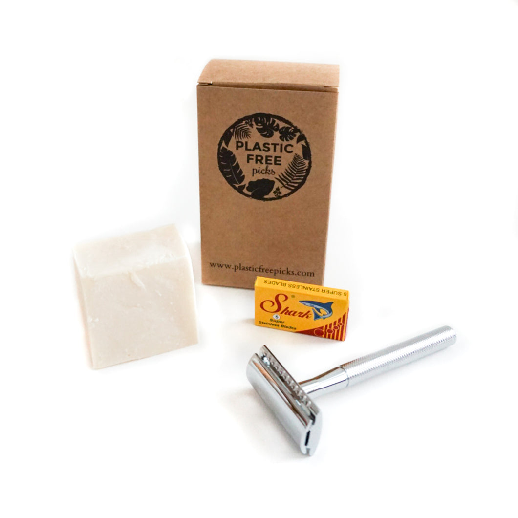 Safety Razor Kit Silver Flamingo