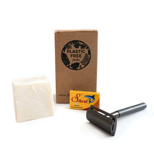 Safety Razor Kit Dark Metal Flamingo