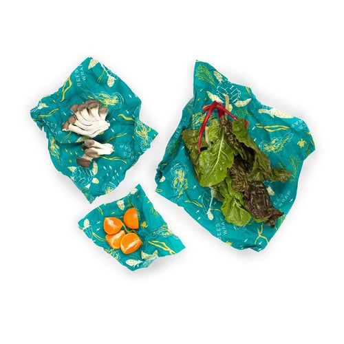 Beeswax wraps 3pcs - Ocean