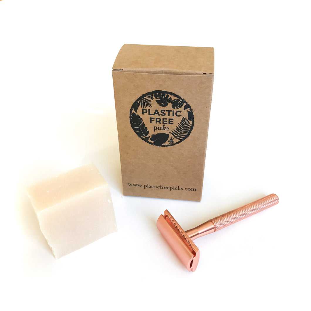 Safety Razor Kit Pink Flamingo