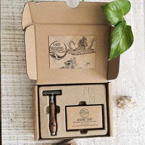 Safety Razor Kit Ruskea