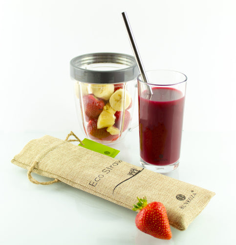 Steel drinking straws, Smoothie 6-pack