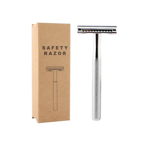 Safety Razor Silver Flamingo