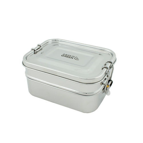Two tier stainless steel lunch box 1300ml