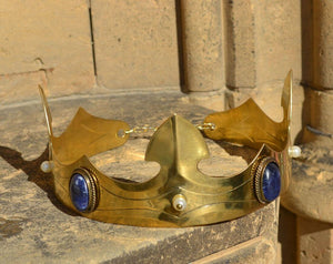 CAROLUS | Noble Medieval Sodalite Brass Crown-Esoterico Shop-Esoterico Shop