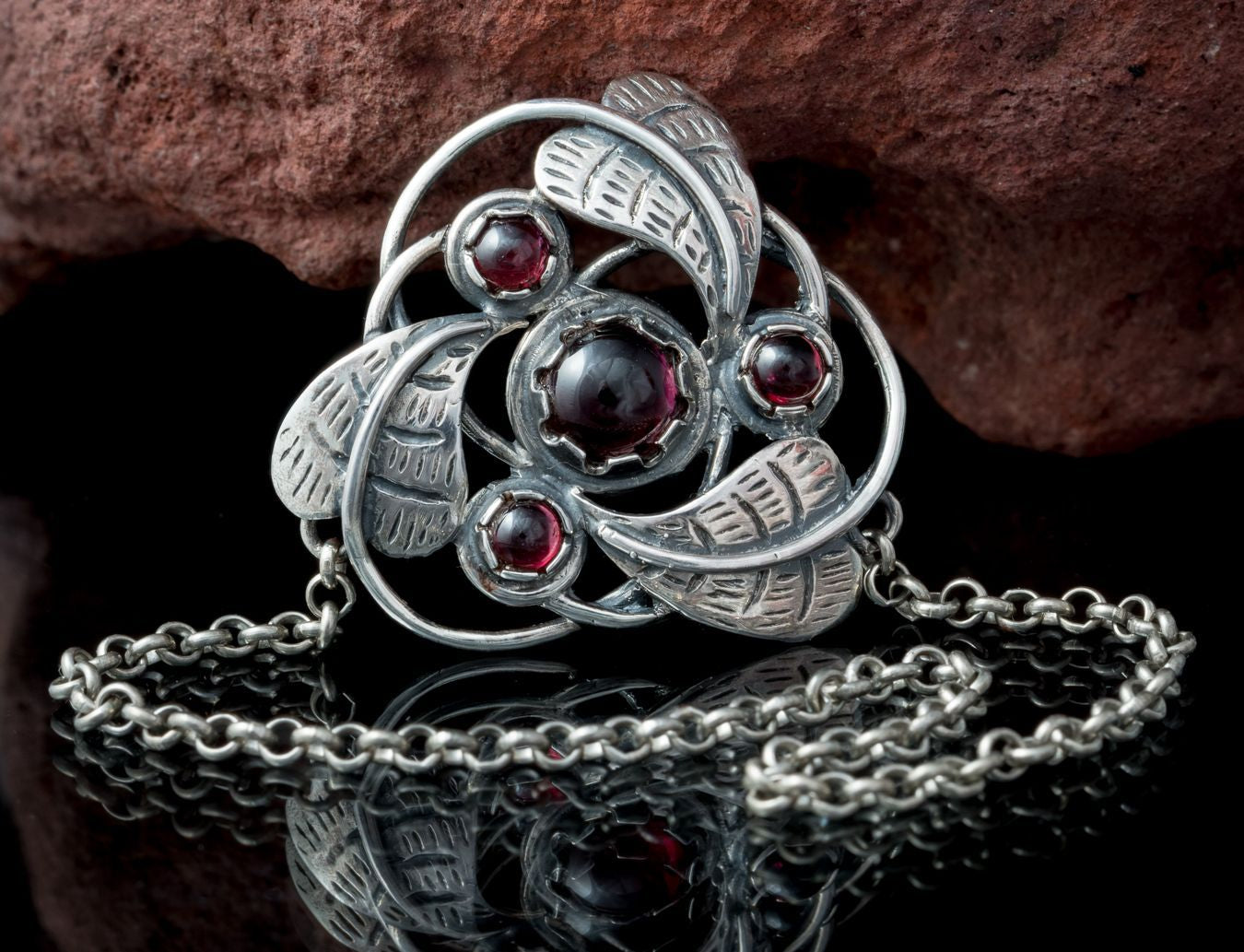TRISKELION | Art Nouveau Sterling Silver Necklace-Esoterico Shop-Esoterico Shop