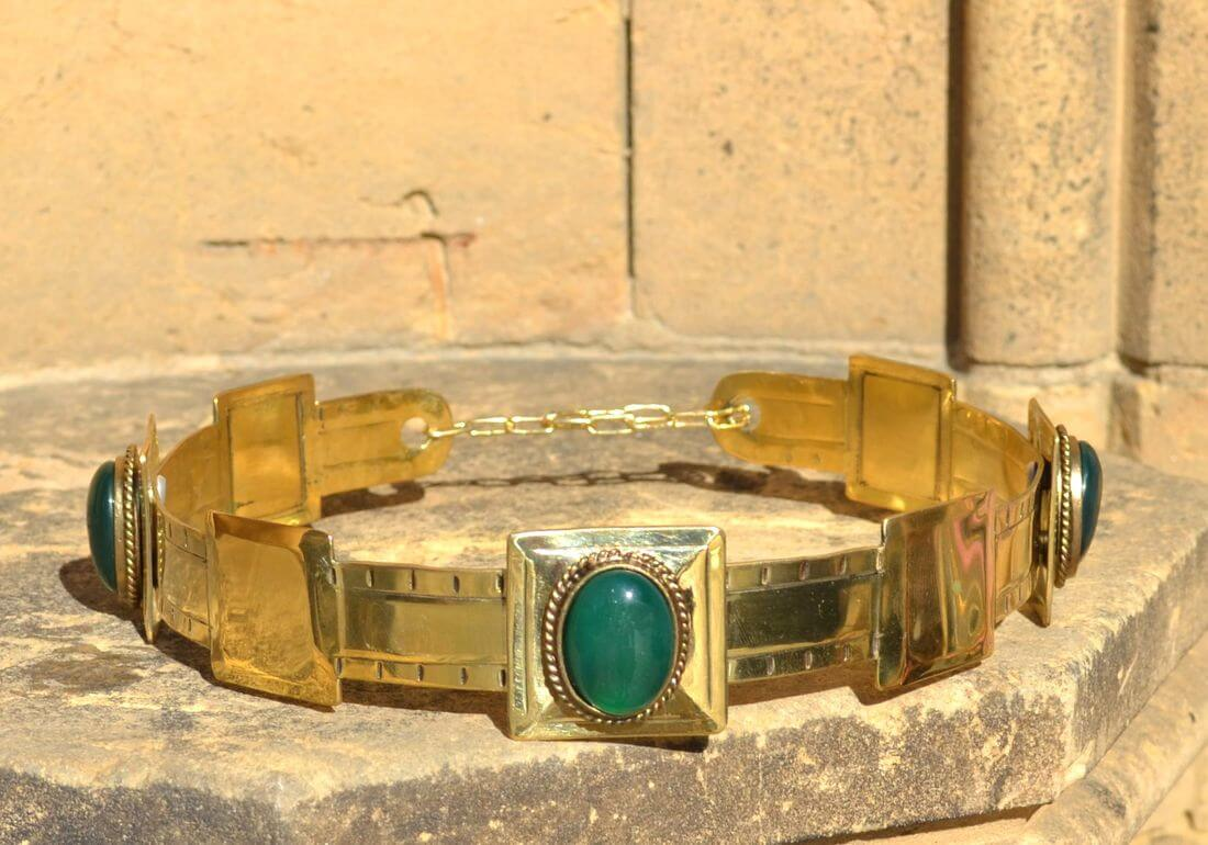 ARTHUR | Noble Medieval Agate Brass Crown-Esoterico Shop-Esoterico Shop