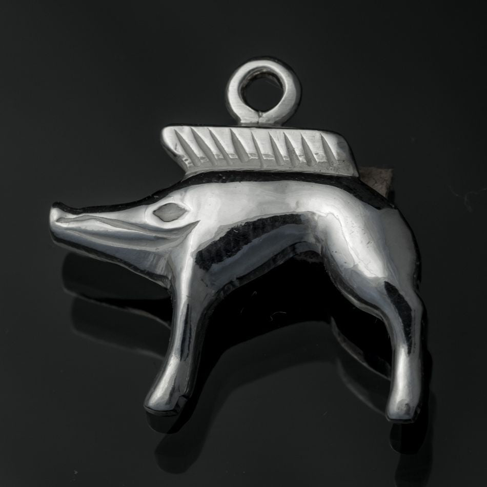CELTIC BOAR | Neuvy-en-Sullias Silver Pendant-Esoterico Shop-Esoterico Shop