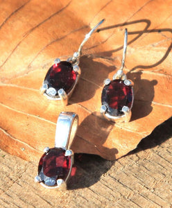 GARNET | Sterling Silver Jewellery Set-Esoterico Shop-Esoterico Shop