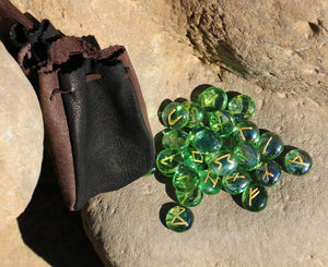 RUNE | 25 Pieces Glass Runes with Pouch-Esoterico Shop-Esoterico Shop
