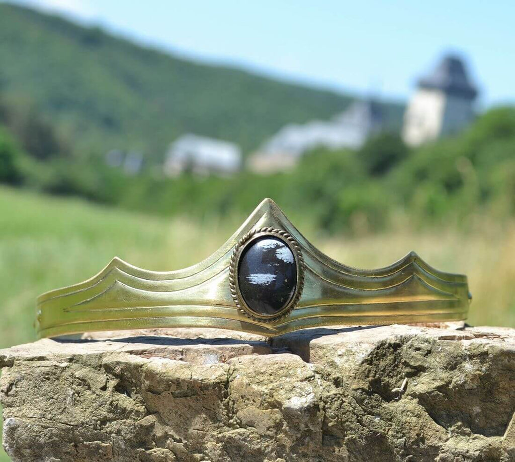 GRACIA | Medieval Gothic Obsidian Crown-Esoterico Shop-Esoterico Shop