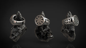 AEGISHJÁLMUR (Helm of Awe) | Silver Viking Ring-Esoterico Shop-Esoterico Shop