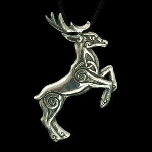 CELTIC DEER | Herne Sterling Silver Pendant-Esoterico Shop-Esoterico Shop