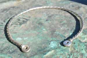 CELTIC | Chieftain Sterling Silver Torc-Esoterico Shop-Esoterico Shop