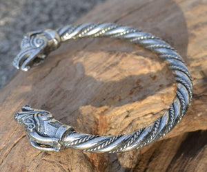 DRAIG | Celtic Dragon Sterling Silver Bracelet-Esoterico Shop-Esoterico Shop