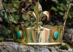 FLEUR | Medieval Brass Crown-Esoterico Shop-Esoterico Shop