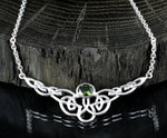 SILURE | Moldavite Silver Necklace-Esoterico Shop-Esoterico Shop