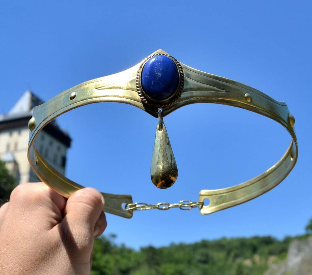 NORICA | Lapis Lazuli Brass Crown-Esoterico Shop-Esoterico Shop