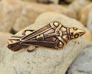 VIKING | Raven Oland Bronze Brooch-Esoterico Shop-Esoterico Shop