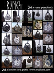 RUNE | Lot of 24 Runic Pendants with Leather Cords-Esoterico Shop-Esoterico Shop