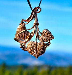 LINDEN | Lime Leaves Bronze Pendant-Esoterico Shop-Esoterico Shop