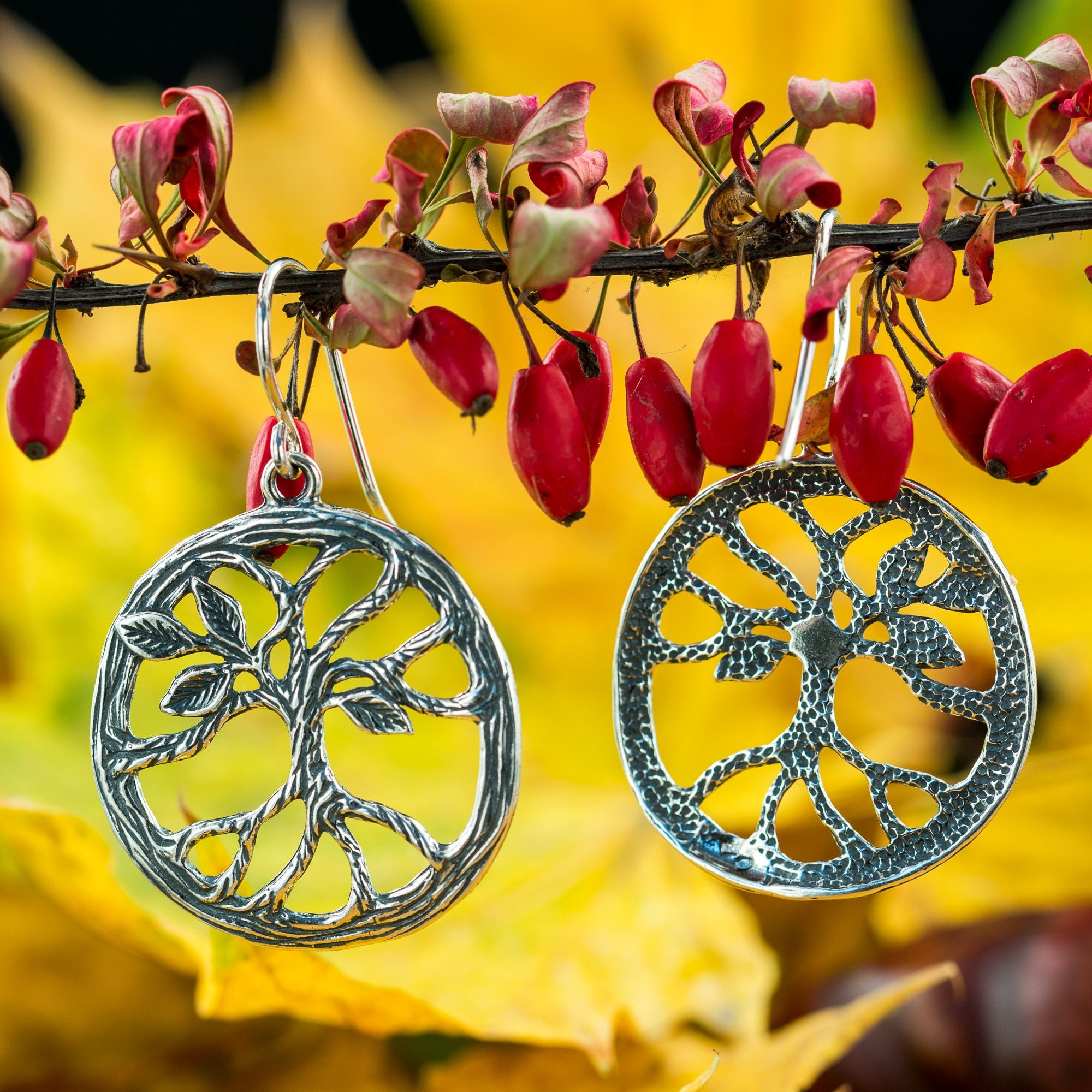 TREE | Arbor Silver Earrings-Esoterico Shop-Esoterico Shop