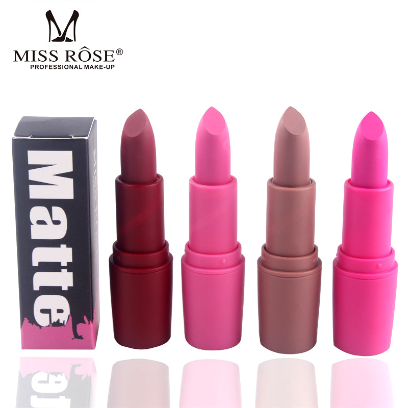 MISS ROSE™ Waterproof Matte Lipstick - My Beauty Mantra