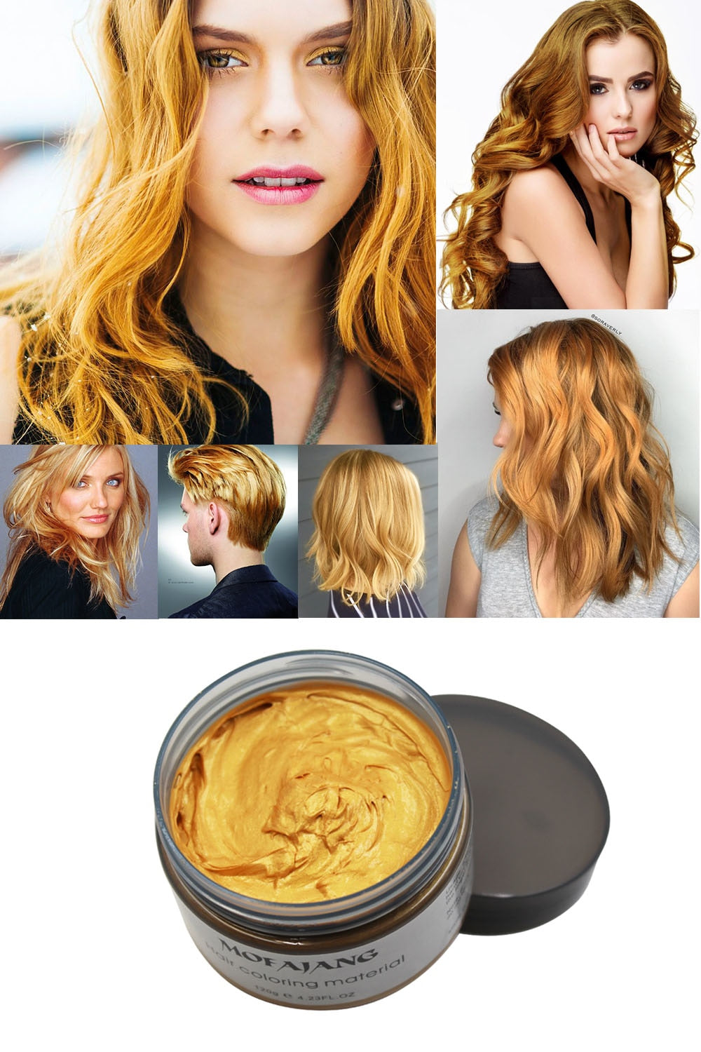 Unisex Hair Color Wax