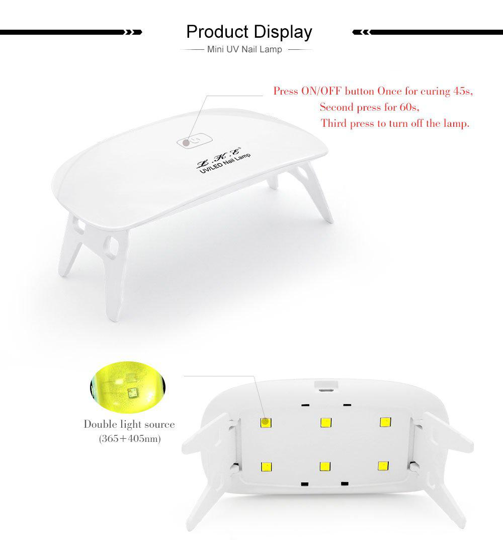 LKE™ 12W Nail Dryer LED UV Lamp Micro USB