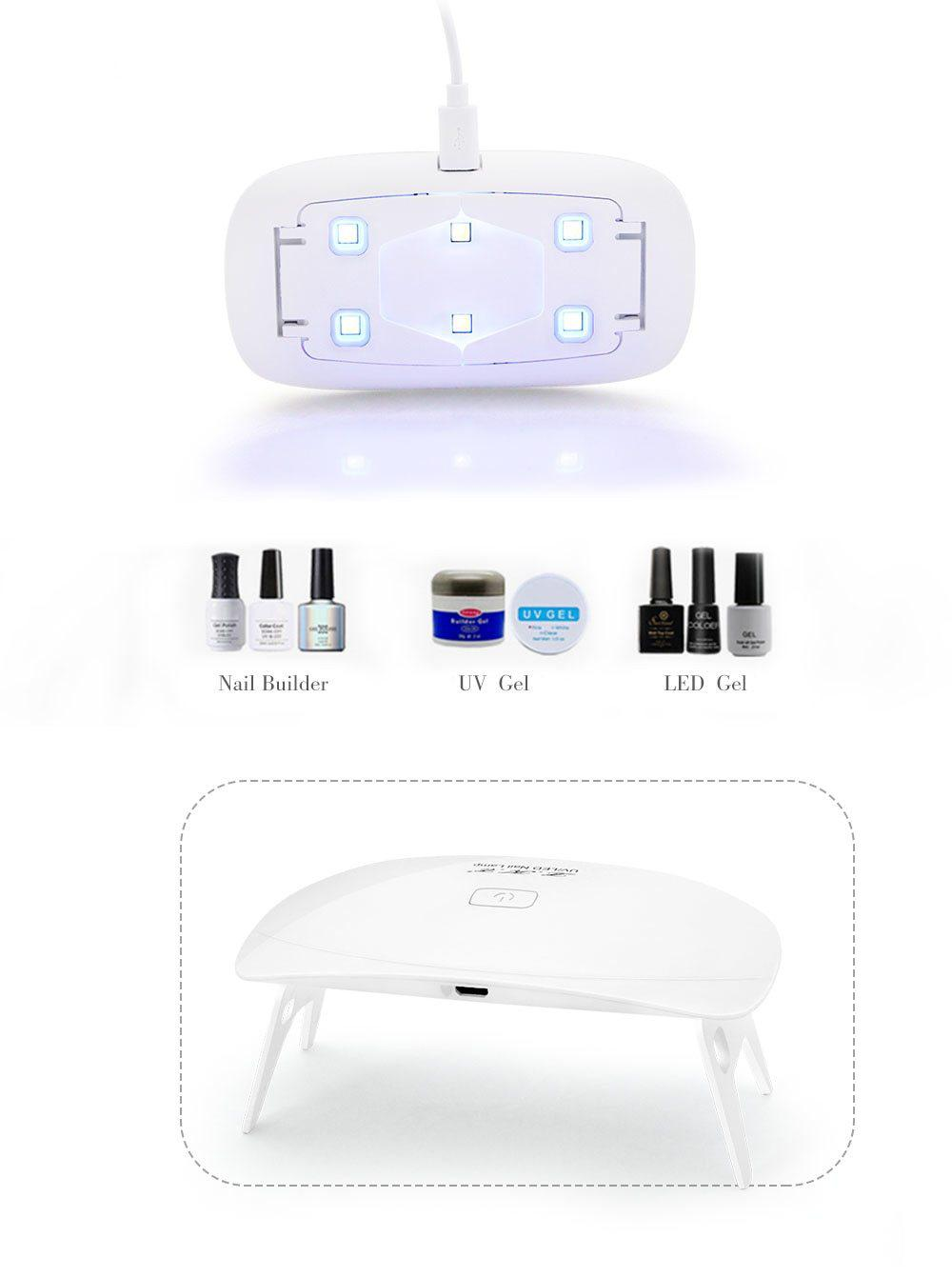 LKE™ 12W Nail Dryer LED UV Lamp Micro USB - My Beauty Mantra