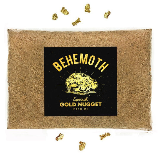 Behemoth 'SPECIAL GOLD NUGGET PAYDIRT'™ Gold Panning Pay Dirt Bag - Gold Prospecting Concentrate